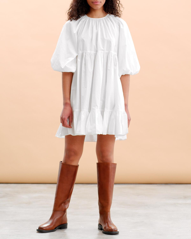 Poplin shift dress