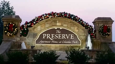 The Preserve Community Entrance Decorations