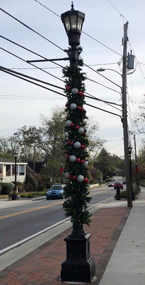 Light Pole Christmas Decor