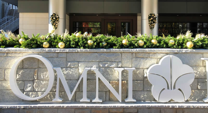 Omni Hotel Christmas Decor