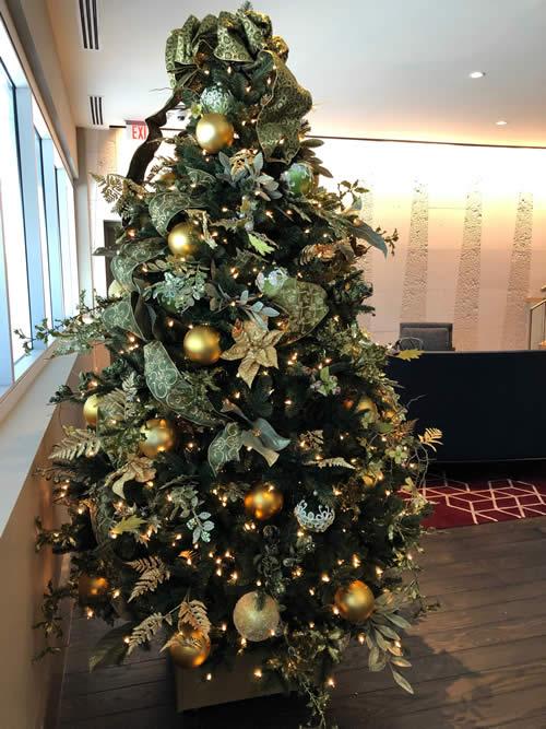 Atlanta Hotel Christmas Tree Decor