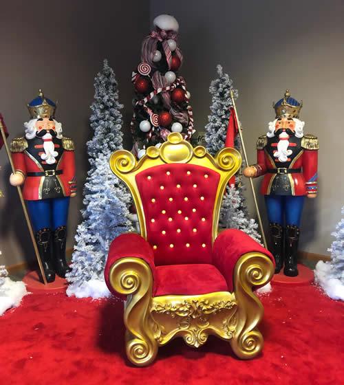 Santa Chair Display