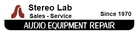 Stereo Lab Service Audio Equipment Repair Logo