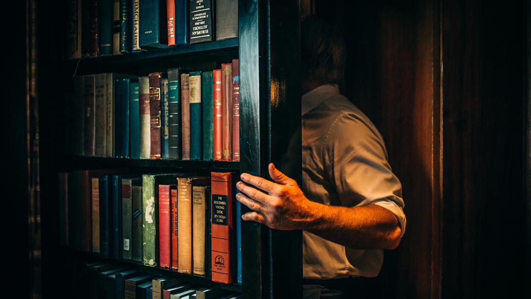 hidden bookshelf room entrance laac