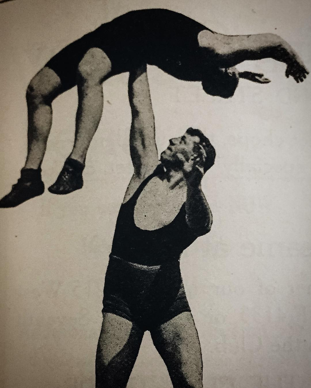 old wrestling picture at laac