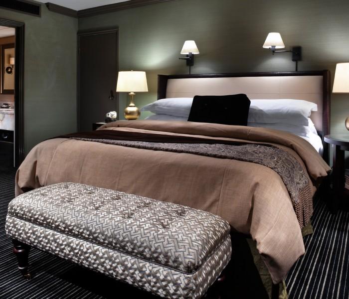 master bedroom at los angeles athletic club hotel