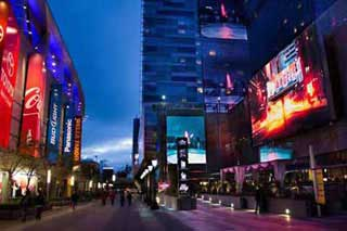 city shot of la at night