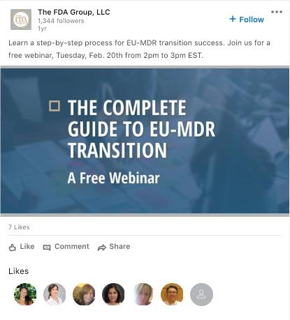 fda group linkedin ad