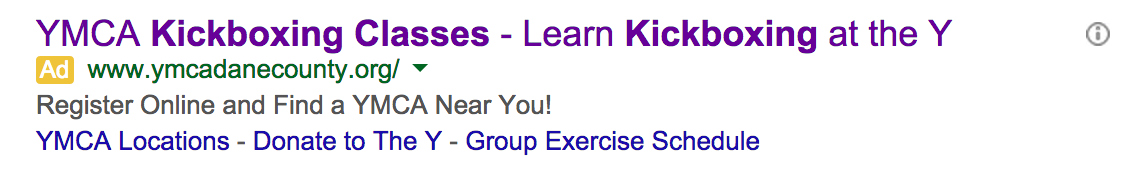YMCA Ad