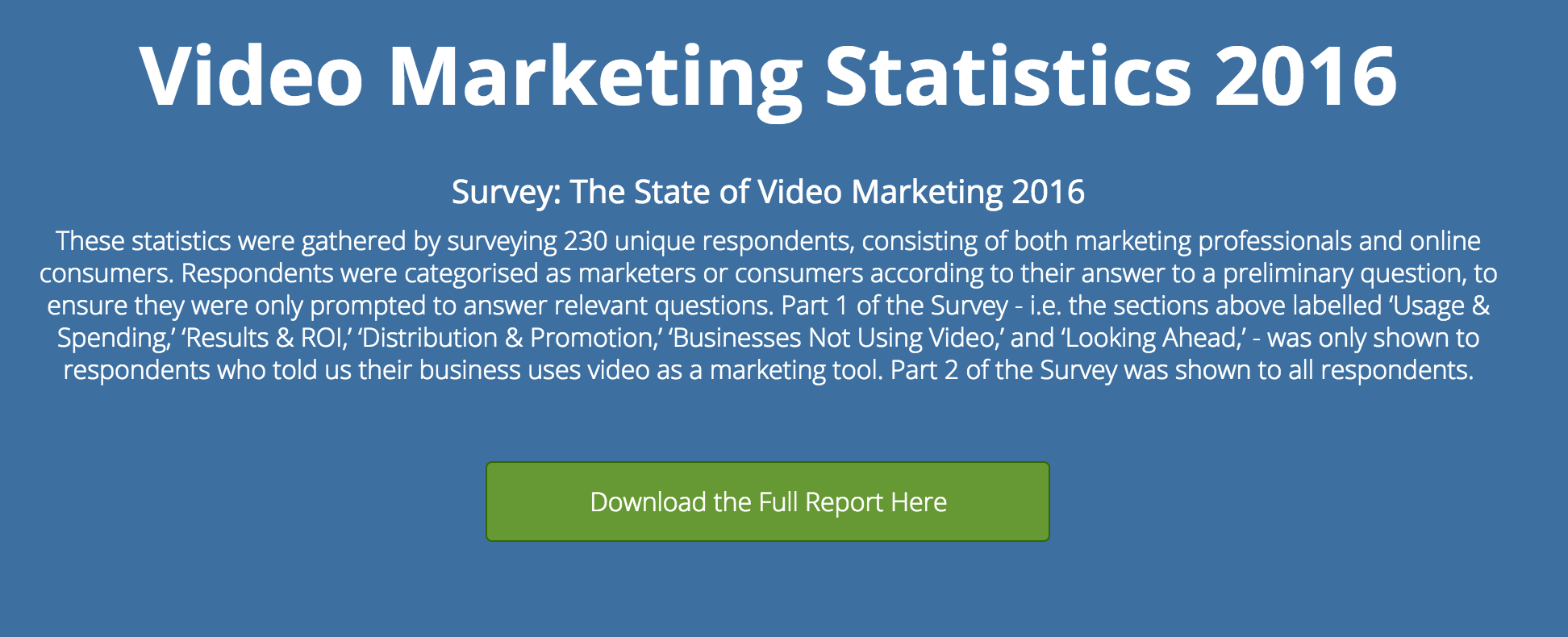 video marketing statistics 2016