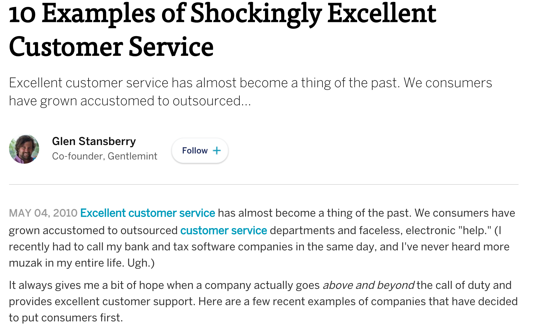 10 examples of shockingly excellent customer service
