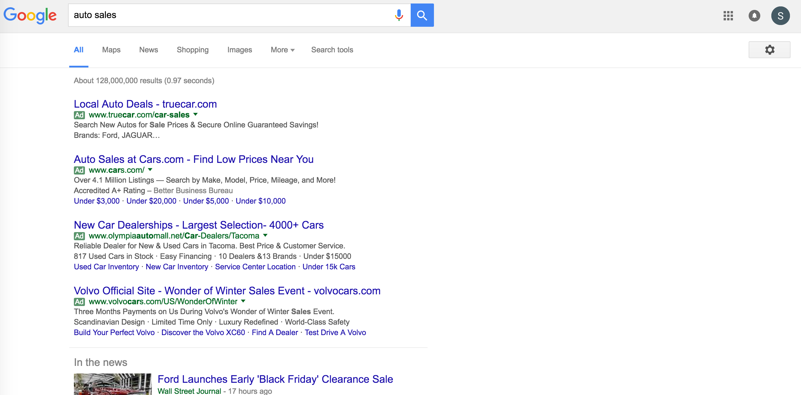 new search results