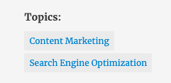 topic tags in the Madison Marketing Group blog