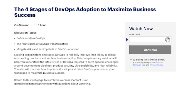 webinar summary titled the four stages of devops adoption to maximize business success