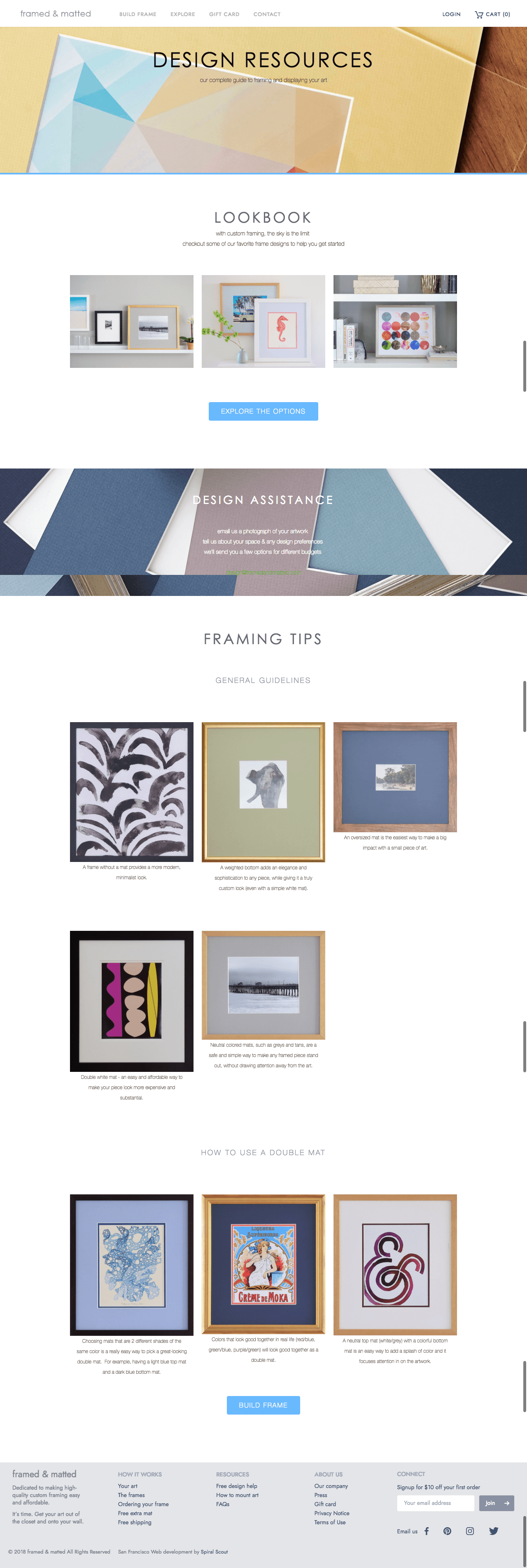 Framed and Matted Design Resources Before