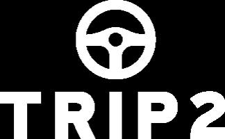 Trip2 app logo in white.