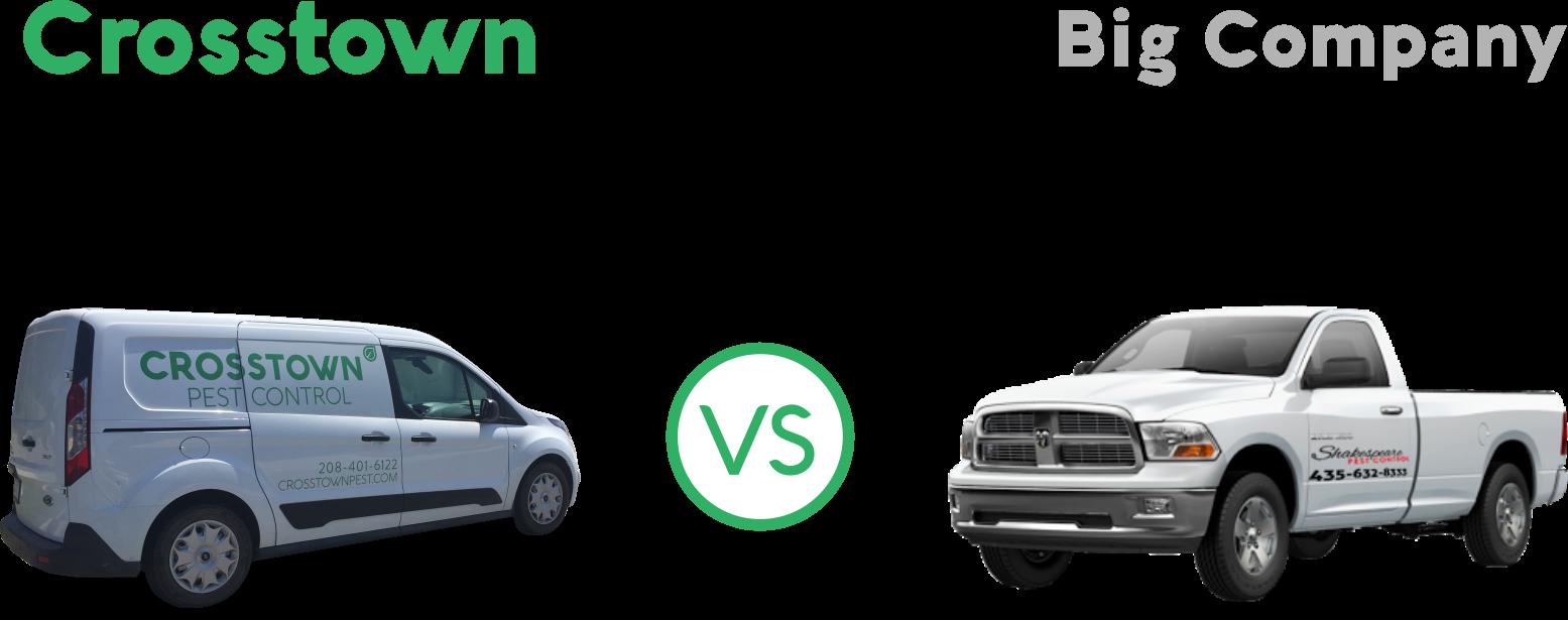comparison pest truck