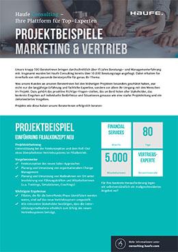 Projektbeispiele Marketing & Vertrieb