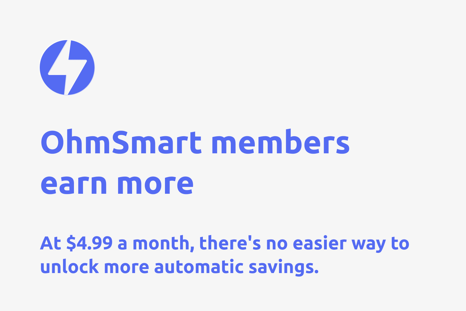 white image with blue text explaining OhmSmart, the new feature of OhmConnect