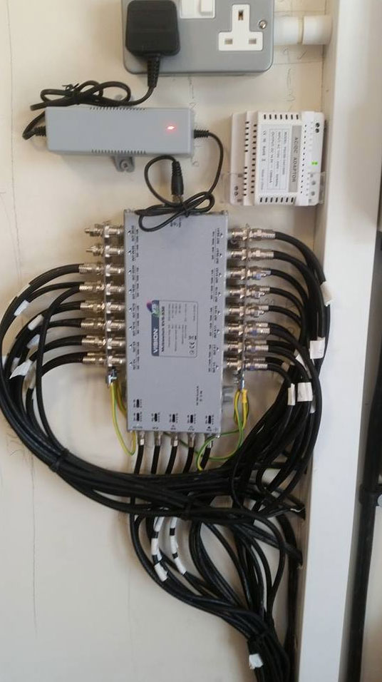 A picture of a TV and satellite multiswitch amplifier in Eastbourne