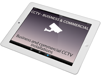 A picture of a CCTV camera and link to Business and commercial CCTV installations