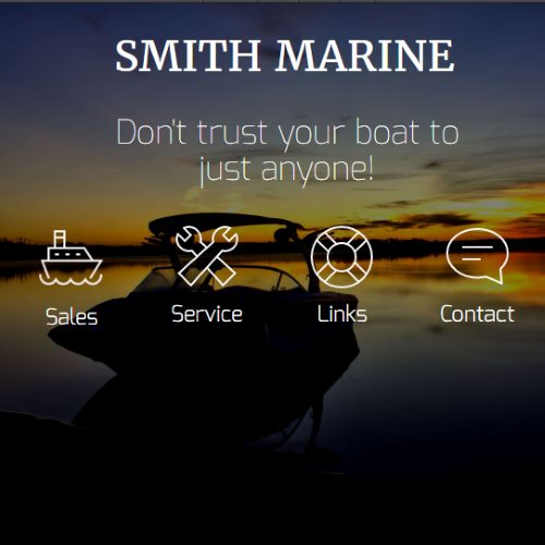 Web Design for Smith Marine