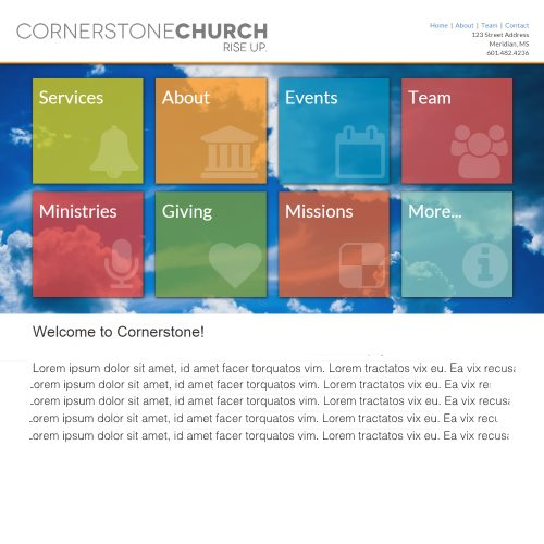 Web Design for a church