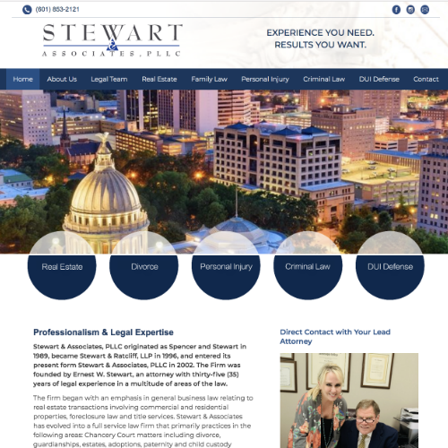 Web Design Stewart and Associates
