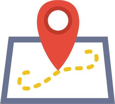 icon of a map and pin