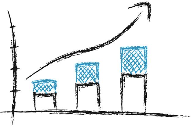 Increasing bar graph sketch