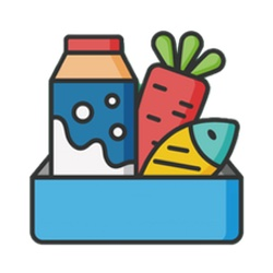 food icon with link to donate