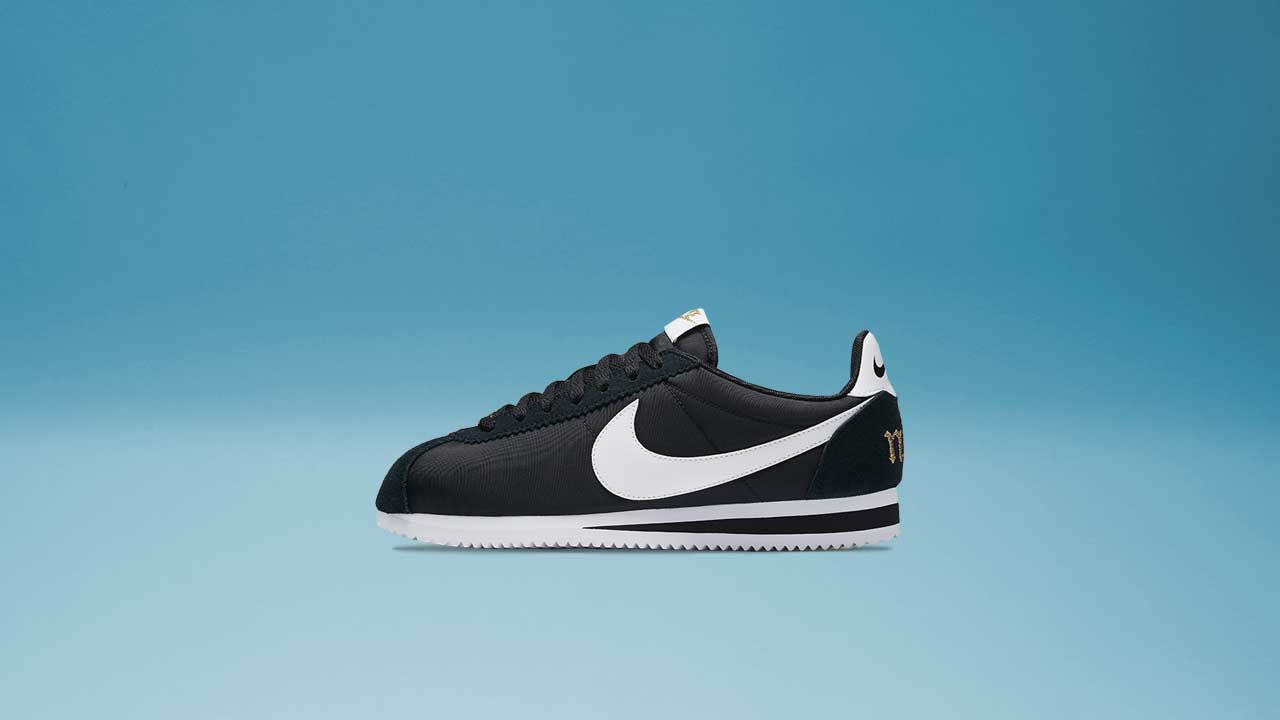 finest selection 199bd bc938 Women s Nike Cortez PRM XLV (Black   White   Metallic Gold)