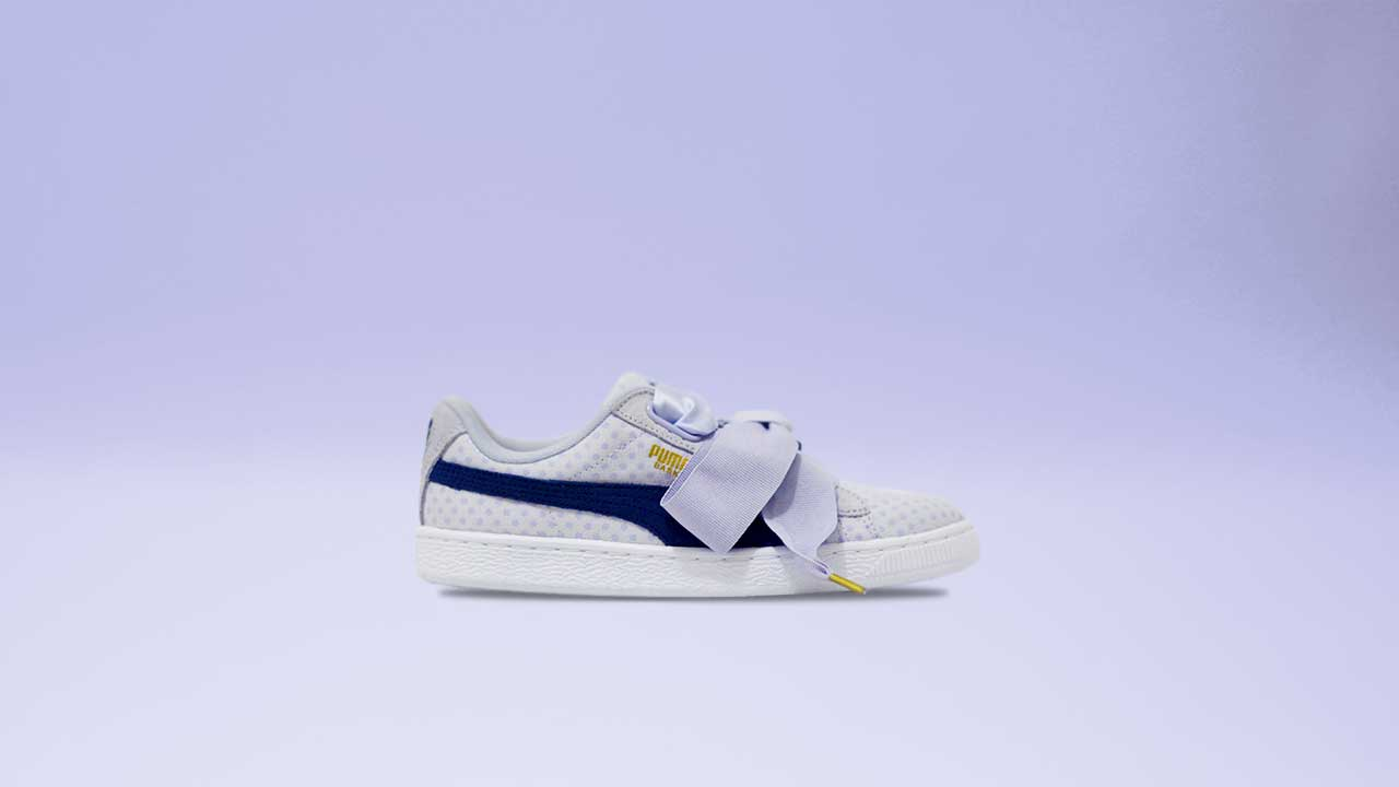 cheap for discount da4b1 51509 PUMA Campaign Stars Cara Delevingne in Basket Heart Denim