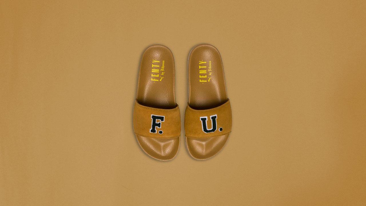 sports shoes 213b1 25c28 Unboxing the Puma x Rihanna FENTY University Unisex Slide