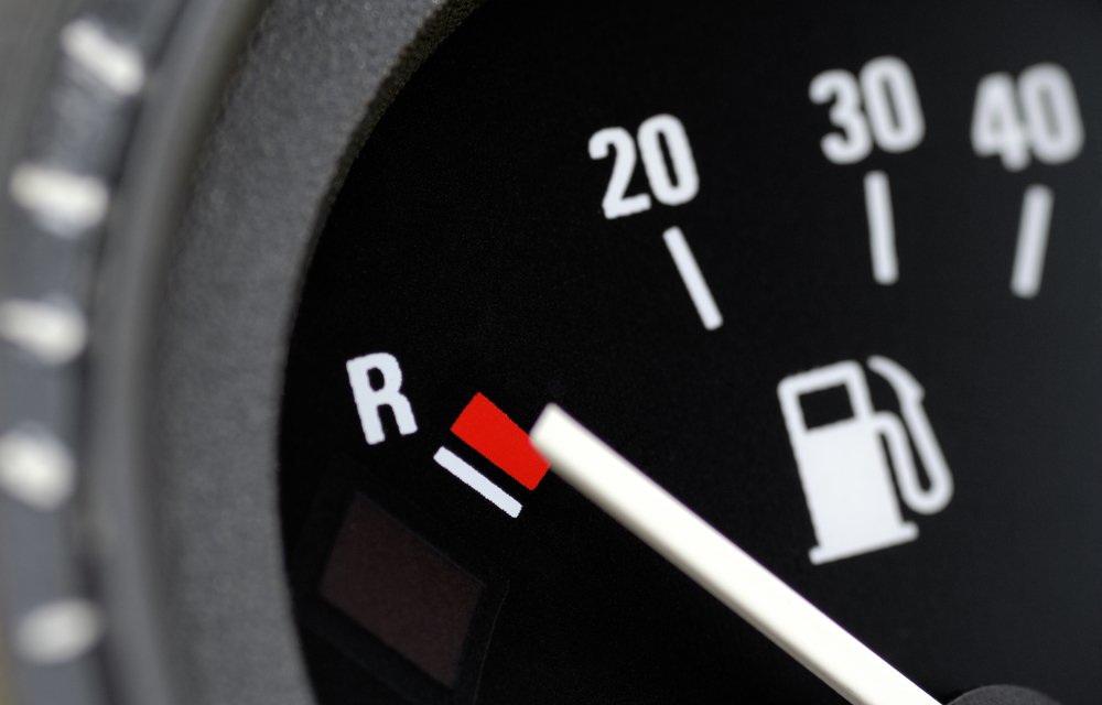 fuel gauge in a vehicle