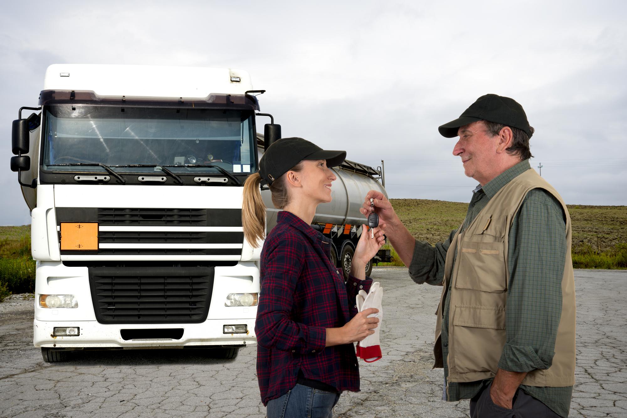 Truck driver's exchange keys
