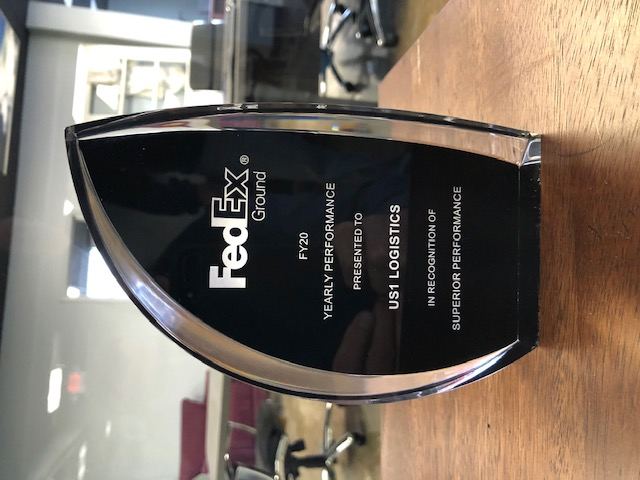 Fedex award for US1 Logistics agent in Cincinnati, OH