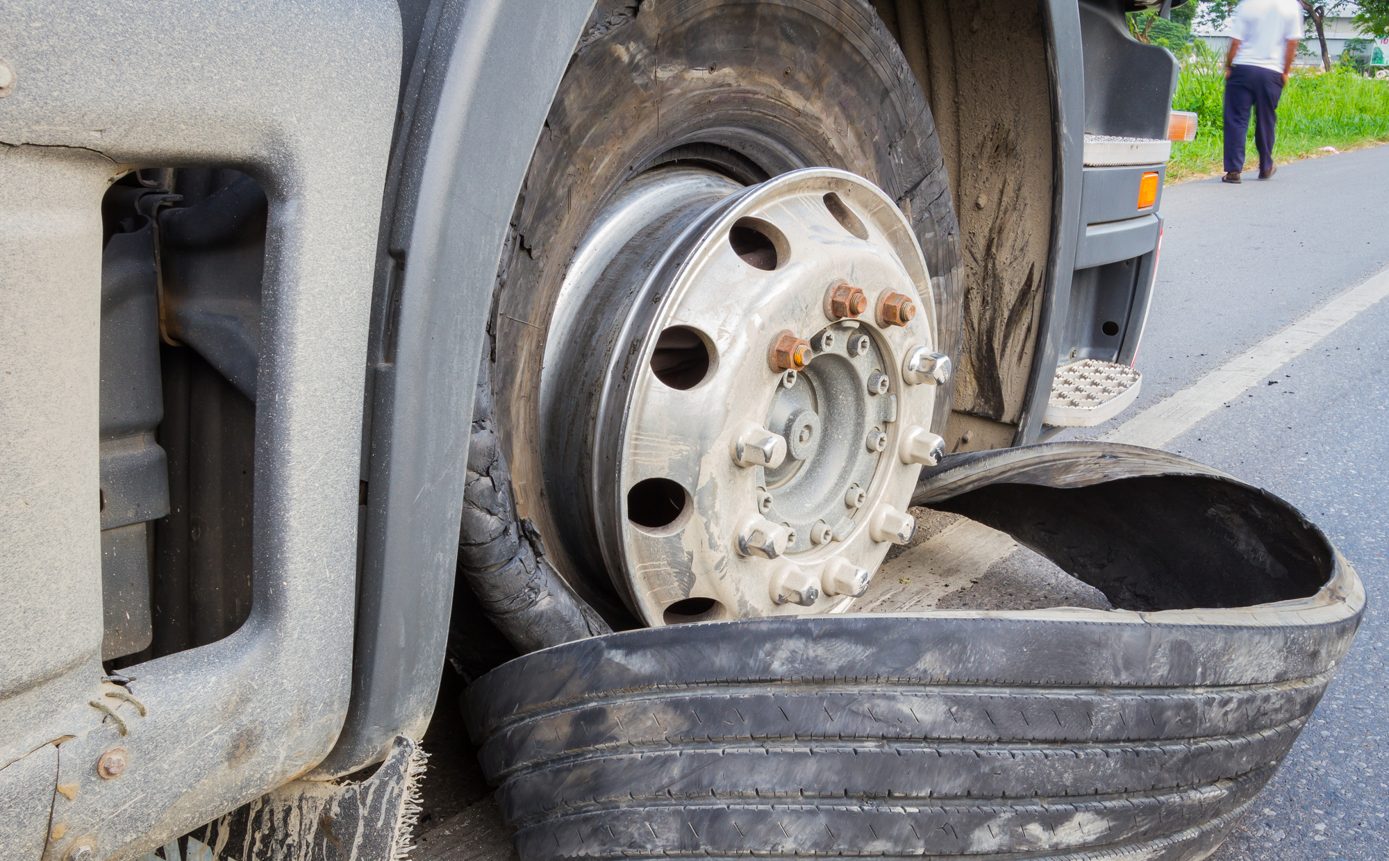 A tire blowout