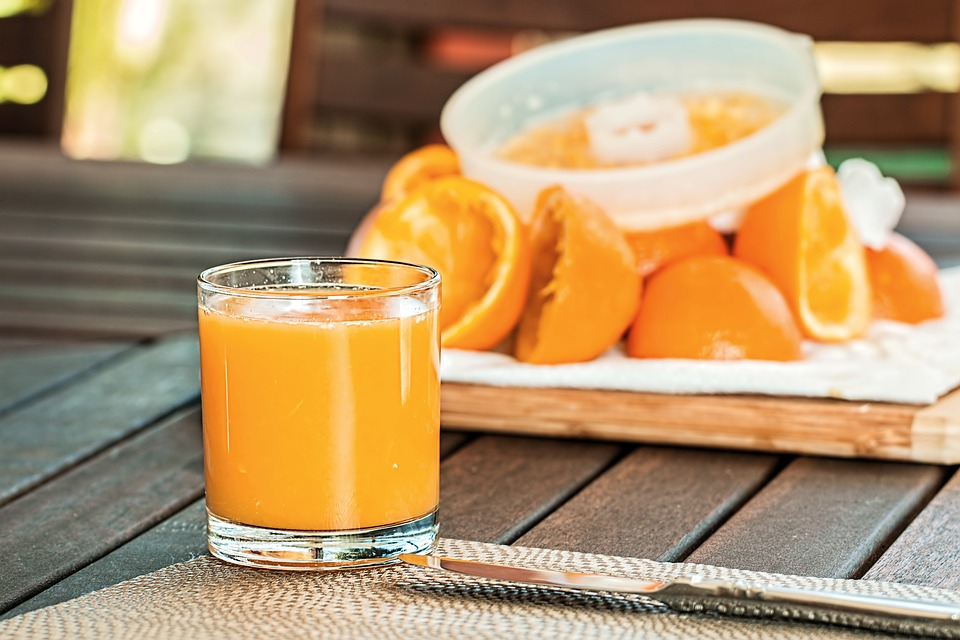 Delicious looking orange juice