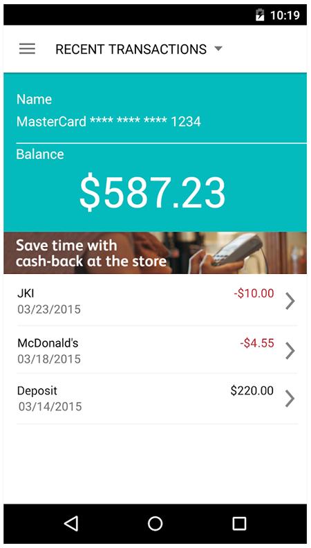 Image of a mobile app design