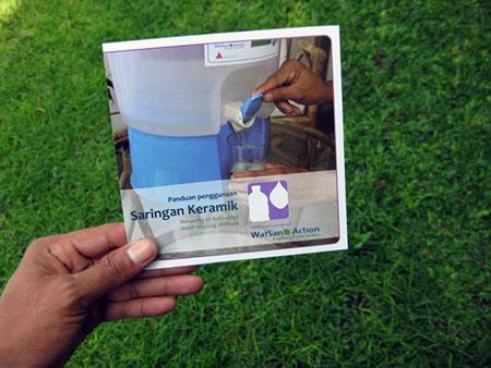 Image of an instructional brochure I designed