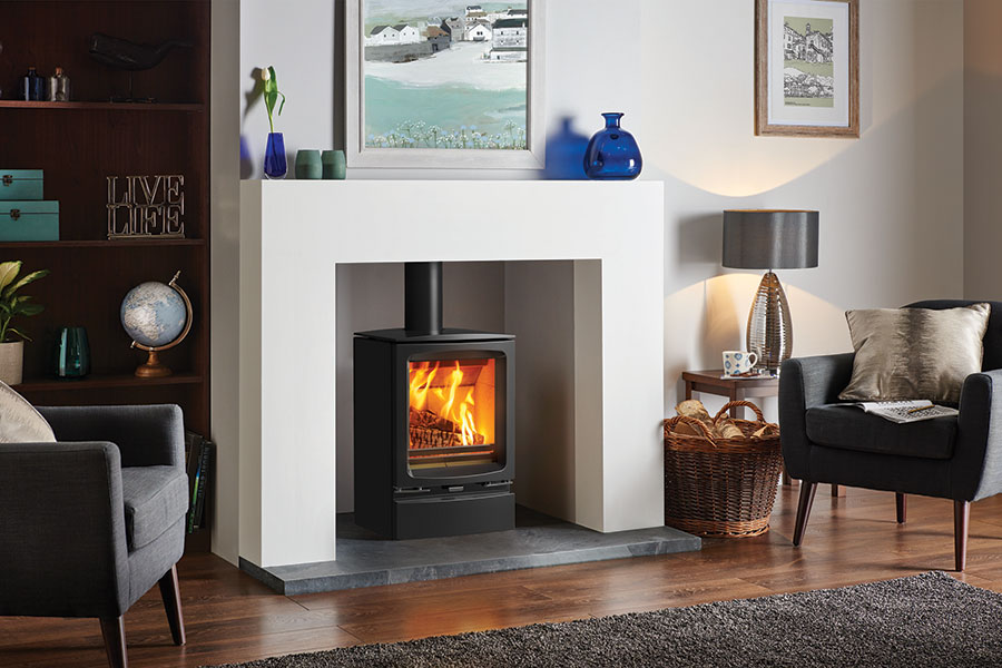 Vogue Woodburner with Optional Plinth Grate Fireplaces
