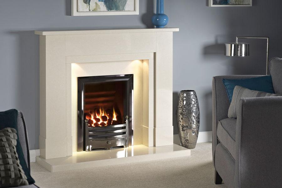 Prados Marble Fireplace at Grate Fireplaces