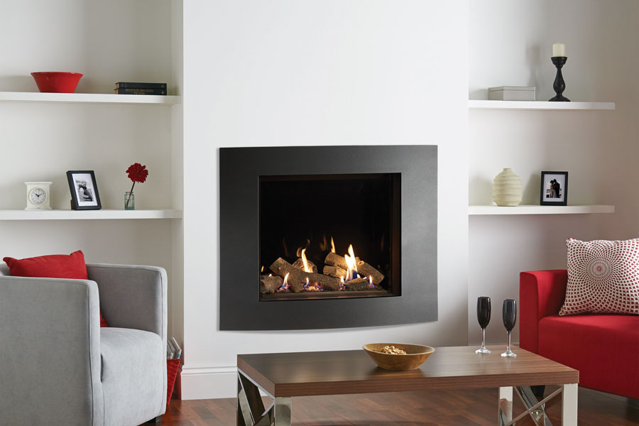 Riva2 750 Verve XS Black Glass at Grate Fireplaces