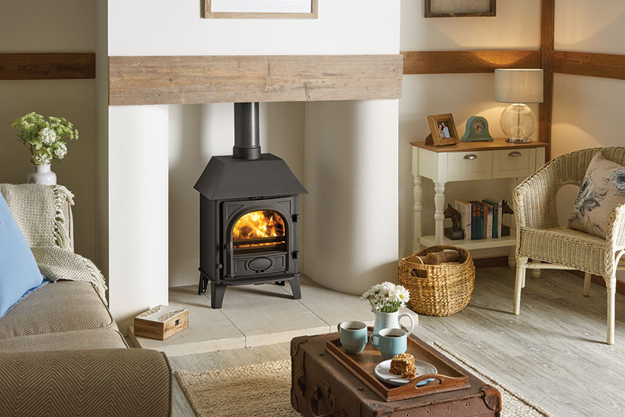 Stockton 5 with Canopy Woodburning Stove Grate Fireplaces