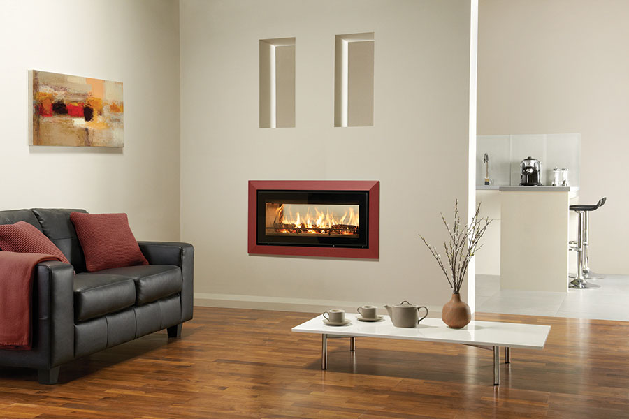 Riva Studio 2 Duplex with Bauhaus Frame at Grate Fireplaces