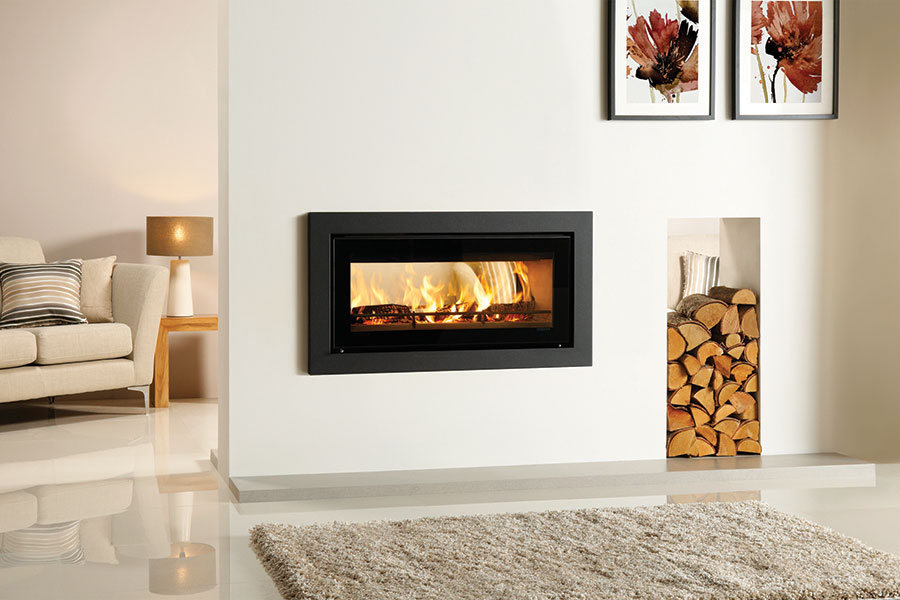 Riva Studio 2 Duplex with Profil Frame at Grate Fireplaces