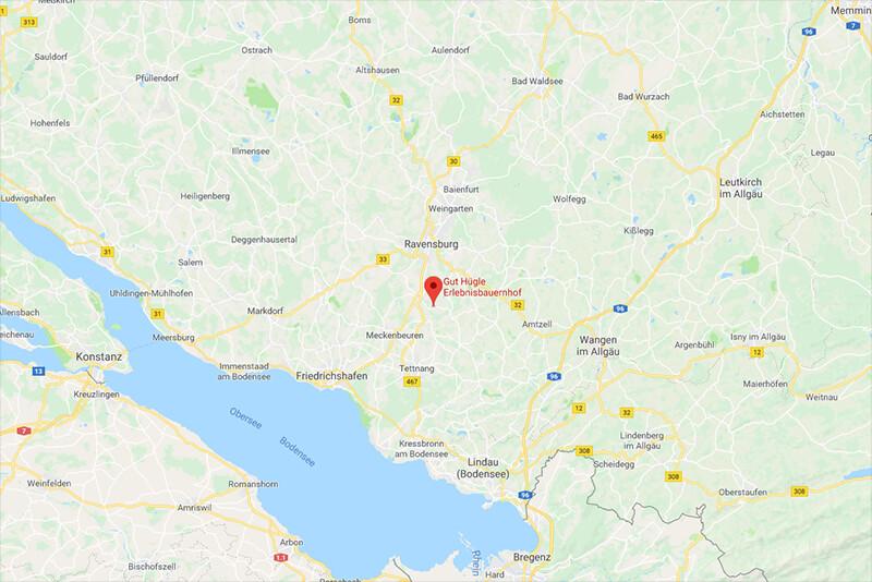 Anreise Gut Hügle Ravensburg