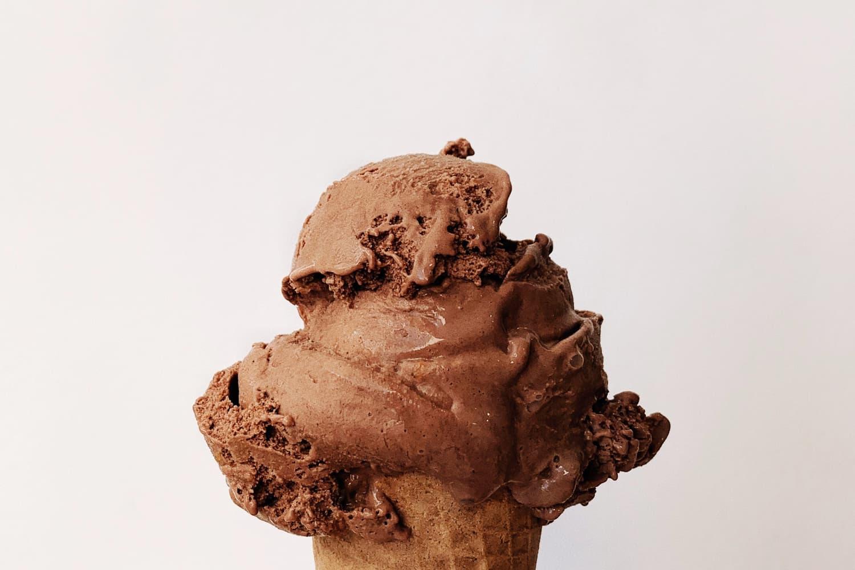 Homemade ice cream at Gut Hügle