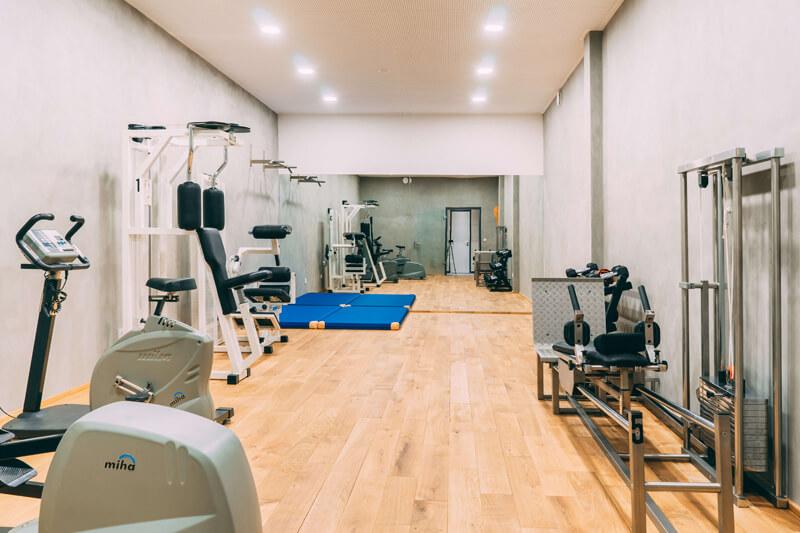 Fitnessraum auf Gut Hügle